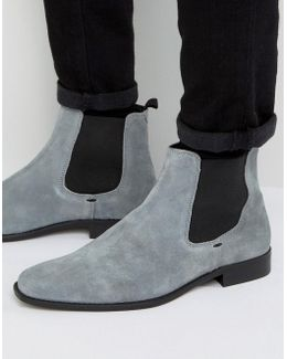 Marky Chelsea Boots In Grey Suede