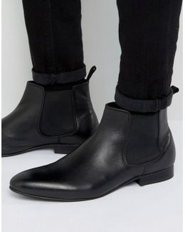 Mister Chelsea Boots In Black Leather