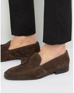 Tassel Loafers In Brown Suede