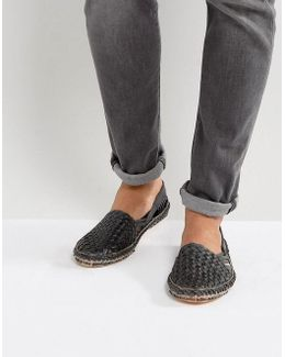 Freedom Woven Shoes In Black Nubuck