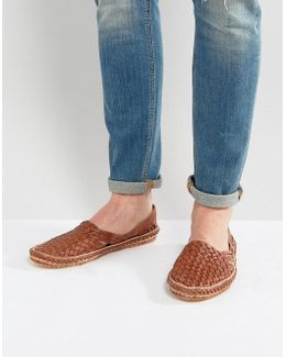 Freedom Woven Shoes In Tan Nubuck