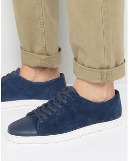 Tate Lo Sneakers In Navy Suede