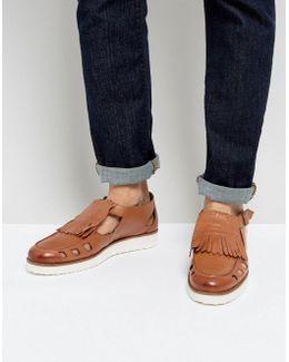 Buckle Sandals In Tan