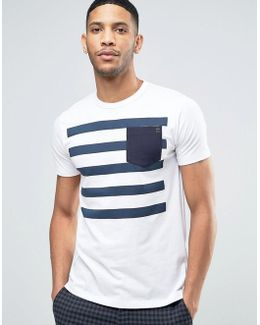 Five Stripe T-shirt With Contrast Pocket