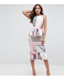 Double Peplum Pencil Tall Dress