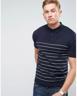 Knitted Yarn Dye Stripe Polo