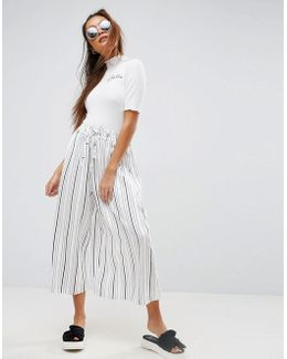 Awkward Length Stripe Culottes