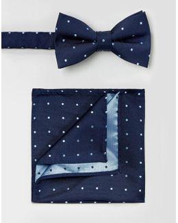Silk Bow Tie & Pocket Square Set