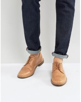 Brogue Shoes In Vegetan Leather
