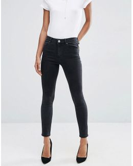 Ridley Skinny Jeans In Washed Black