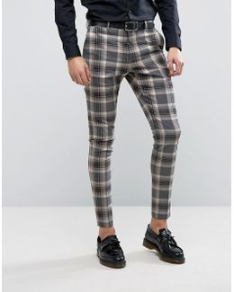 Super Skinny Suit Pants In Check