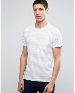Stripe Tee With Contrast Pocket