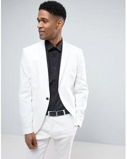 Slim Suit Jacket In Linen