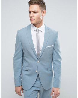 Slim Suit Jacket With Notch Lapel