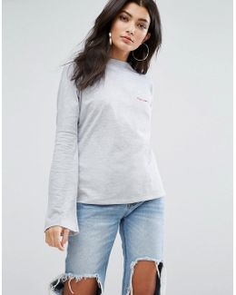 High Neck Lightweight Sweatshirt With Partners In Crime Embroidery