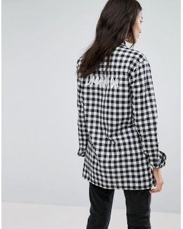 Relaxed Check Shirt With Dreamer Embroidery