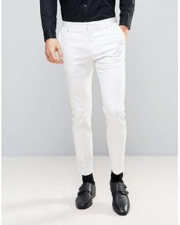Slim White Tuxedo Pant