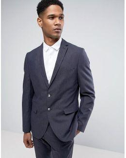 Slim Suit Jacket In Linen Mix