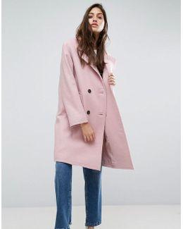 Coat With Raw Edges