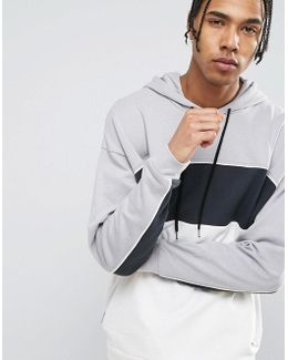 Oversized Hoodie With Colour Block Panels