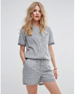 Short Cotton Viscose All-in-one Playsuit