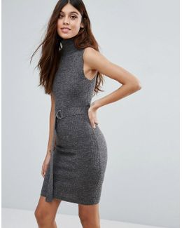 Turtleneck Mini Bodycon Dress
