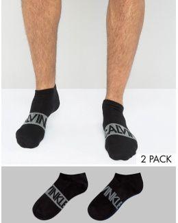 Trainer Socks 2 Pack Black