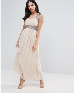 Maxi Dress With Embellishment