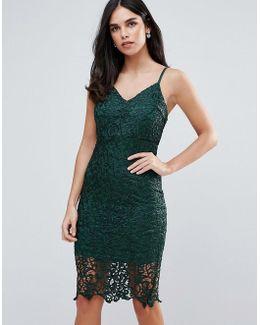 Lace Midi Bodycon Dress