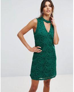 Dress With Choker Detail