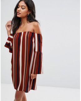 Bardot Striped Mini Dress
