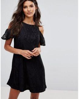 Cold Shoulder Smock Dress
