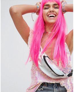 Dress Up Festival Pink Long Wig