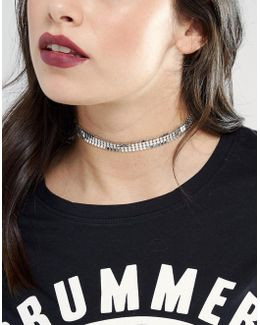 Skinny Chainmail Choker Necklace