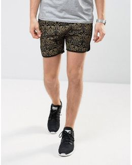 Jersey Runner Shorts In Baroque Print