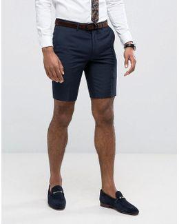 Skinny Shorts In Navy