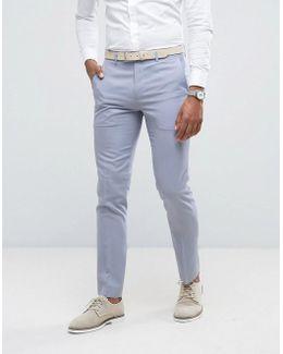 Skinny Wedding Suit Pants In Blue