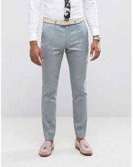 Skinny Wedding Suit Pants In Mint