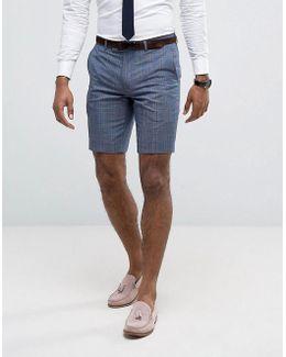 Skinny Smart Shorts In Check