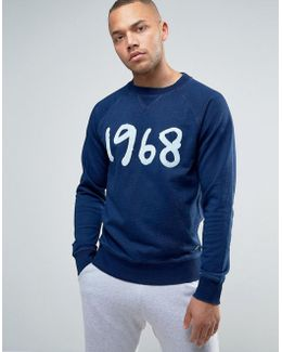 Crew Neck Sweatshirt With 1968 Print