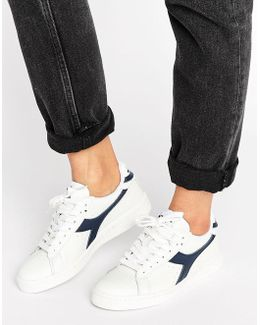 Game Low Trainers In White & Navy