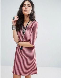 Frenchy Stripe Tee Dress
