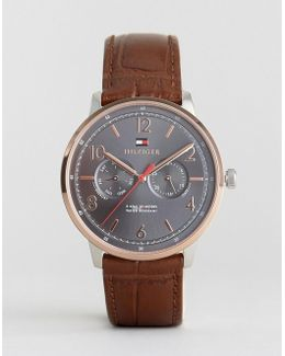 1791357 Brown Leather Strap Watch
