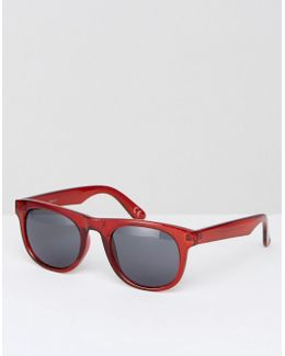 Square Sunglasses In Crystal Burgundy