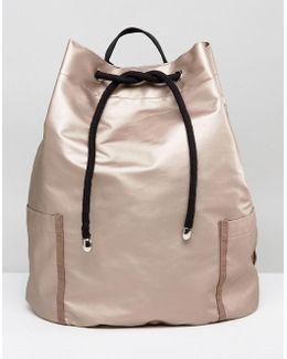 Oversized Drawstring Duffle Bag