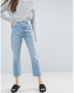 Florence Authentic Straight Leg Jeans In Cambridge Light Mid Wash
