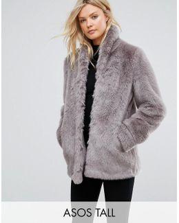 Coat In Vintage Faux Fur