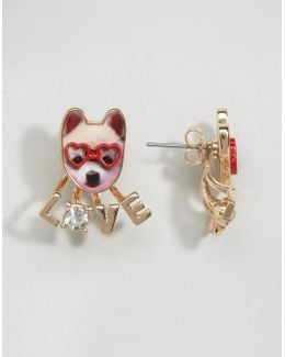 Dog Love Stud Earrings