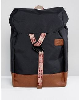 Backpack In Black With Taping Details