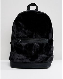Backpack In Black Velvet